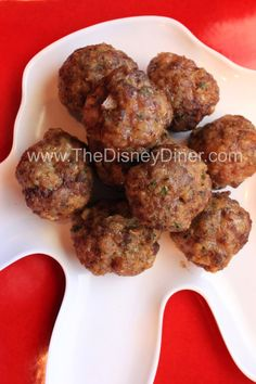The Disney Diner: Italian Meatballs Recipe from Tony's Town Square (Magic Kingdom)