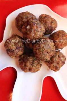 The Disney Diner: Italian Meatballs Recipe from Tony's Town Square (Magic Kingdom)