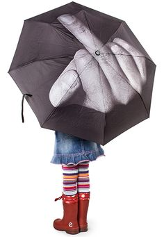 Some people just don't dig using umbrellas... and right now, they might reconsider