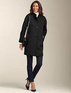 Talbots - Plush Twill Coat | Outerwear | Apparel