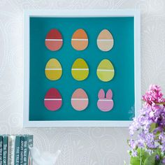 Use paint chips to create cute Easter art! See more Easter crafts that are perfect for kids: http://www.bhg.com/holidays/easter/crafts/easter-crafts-for-all-ages/?socsrc=bhgpin022313paintchipeggs=2