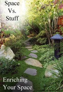 Space vs Stuff- How to decorate your home and garden without clutter