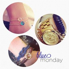 """in honor of the supposed """"blue Monday"""" Blue #armparty"""
