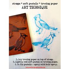 Use stamps and soft pastels for an alternative to crayon rubbings...