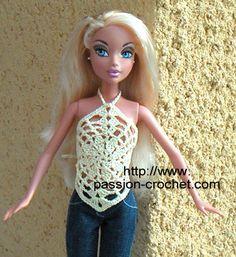 Top au crochet pour poup�e Barbie