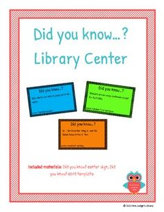 Did You Know...? Library Center