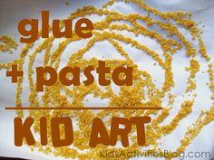 Simple Pasta art project