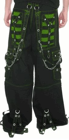 "Tripp NYC ""Armageddon II"" Bondage Pants (Black / Toxic Green)"