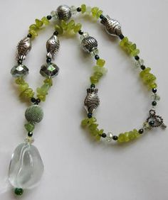 Large Clear Resin Nugget Necklace - $66