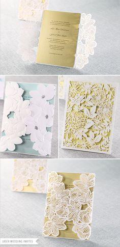 laser cut wedding invitations from B wedding invitations