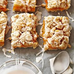 Apricot-Rosemary Streusel Bars From Better Homes and Gardens, ideas and improvement projects for your home and garden plus recipes and entertaining ideas.