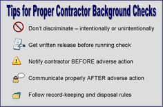 Tips for #recruiters who run background checks on #contractors