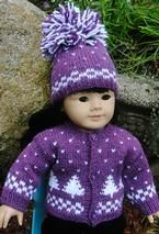 Doll sweater and hat