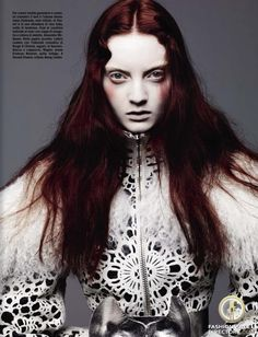 Codie Young featured in the                     Vogue Italy editorial