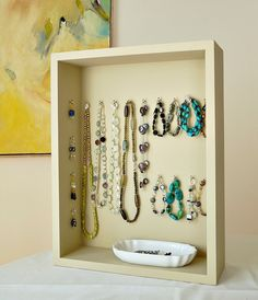 jewelri display, hook, jewelry storage, diy crafts, jewelry displays, shadow box, diy jewelry, easi jewelri, jewellery display