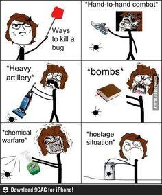 funny clean humor, me humor, funny clean stuff, spider humor, bomb