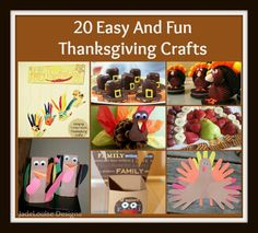 20 Thanksgiving Crafts For you and your Kids. #thanksgiving #crafts