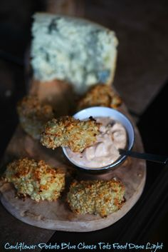 Cauliflower Potato Blue Cheese Tots