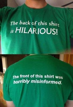 Misinformed T-shirt