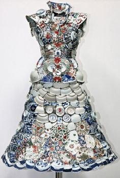 Porcelain Dress by Li Xiaofeng: Made of shards of porcelain painstakingly pieced together.