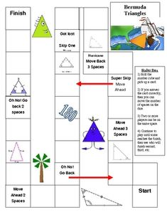 Students review triangle classification by angles and sides.  Students also review finding the missing angle of a triangle.  Game cards come with...