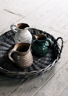 Pottery and basket tray |Pinned from PinTo for iPad|
