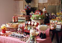Beautiful farm dessert table