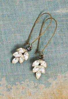 Rhinestone LEAF Earrings