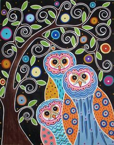 Owls For Joelle by Karla Gerard