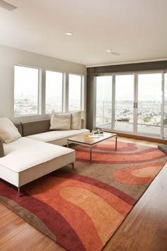 I love bold area rugs!