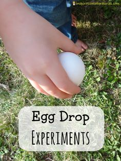 Egg Drop Experiments - 8 different variations and suggestions for setting up the experiment