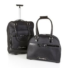 #hsn #fallfashion  Samantha Brown 2-piece Printed Cabin Bag and Tote Set at HSN.com.