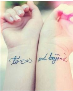To infinity & beyond couple tattoo  @Jess Liu DiMarco totally thought of you!