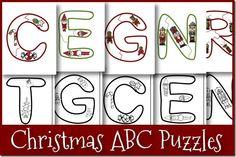 Free Christmas ABC Puzzles