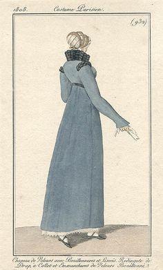 Redingote de drap 1808 Costume parisien