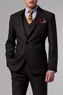 fashion clothes, style, brown sharkskin, stylish clothes, men outfits, men fashion, men clothes, men suits, threepiec suit