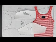 How to Create Patterns from Existing Clothing - Simple Tops - YouTube