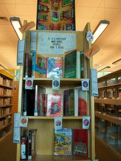 Mystery Book Display -- it's a mystery why more people don't read
