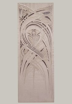 Panel, ca. 1900  Hector Guimard (French, 1867–1942)  Silk and paint on silk