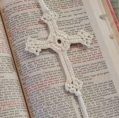 crochet cross bookmark
