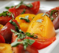 Heirloom Tomato and Basil Salad #primal #paleo