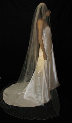 Ivory Cathedral  bridal veil by UrbanVeilsCouture on Etsy, $70.00