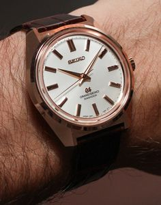 Grand Seiko 44GS Limited Edition Watch in steel (SBGW047) for $6,000 or in your choice of white, yellow or rose 18k gold (SBGW043, SBGW044 and SBGW046, respectively) for $24,000.