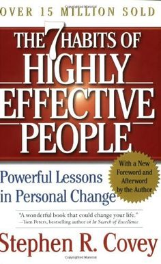 In The 7 Habits of Highly Effective People, author Stephen R. Covey presents a holistic, integrated, principle-centered approach for solving personal and professional problems. With penetrating insights and pointed anecdotes, Covey reveals a step-by-step pathway for living with fairness, integrity, service, and human dignity--principles that give us the security to adapt to change and the wisdom and power to take advantage of the opportunities that change creates.