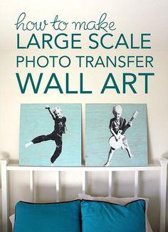 DIY Home Decor Wall Art: DIY Large Scale Photo Transfer Wall Art