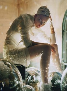 Adore the backlighting - A Play Of White | Ph: Tim Walker | Caroline Trentini | Vogue Italy March 2006