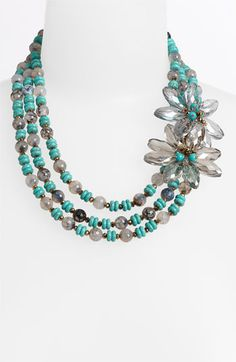 Nakamol Design Flower Triple Strand Necklace available at #Nordstrom $138.00