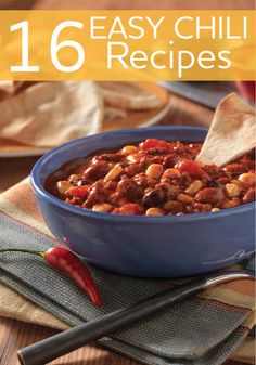 From vegetarian to meaty and sweet to spicy, these easy chili recipes show you how to make chili in just 30 minutes or less.