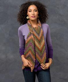Desert Arrow Scarf Crochet Pattern #crochet #redheartyarns