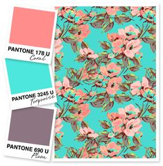 Coral, Turquoise and Plum Color Palette by Sarah Hearts